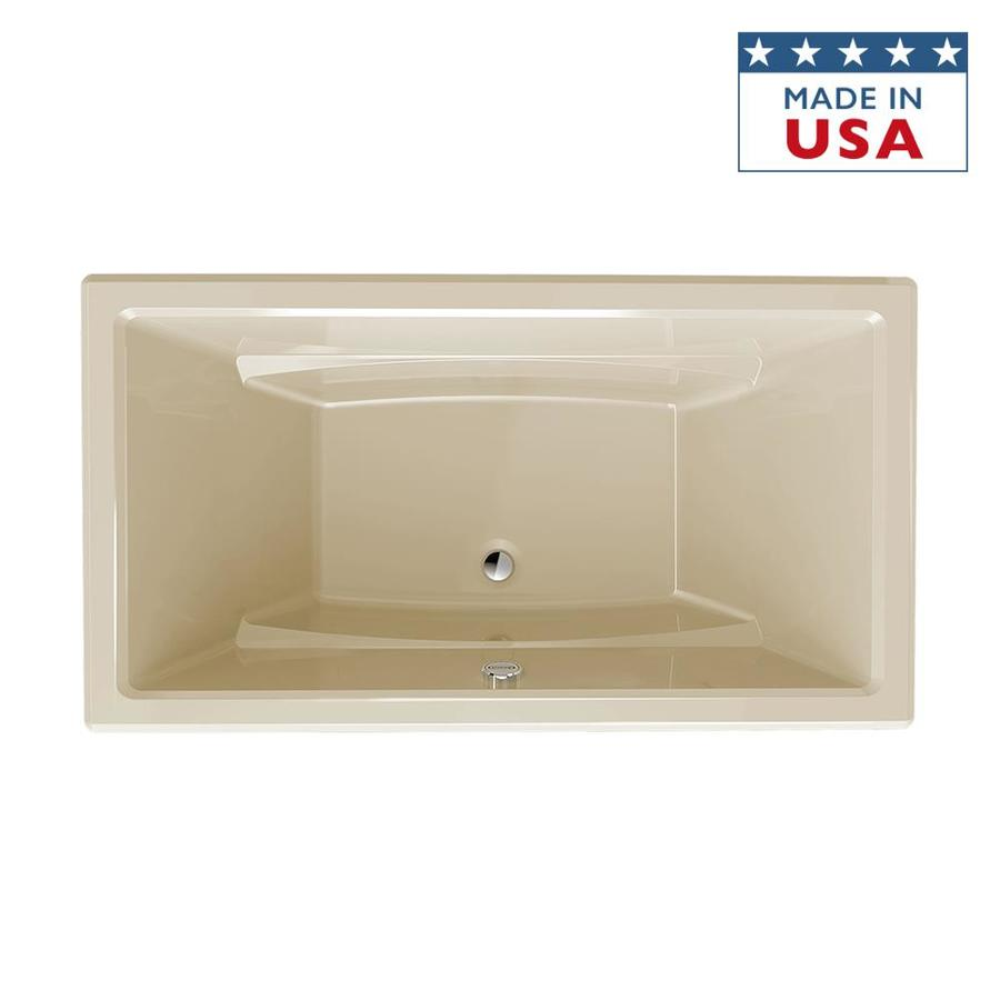 Jacuzzi Primo Almond Acrylic Rectangular Drop-in Bathtub with Center Drain (Common: 36-in x 66-in; Actual: 23-in x 36-in x 66-in)