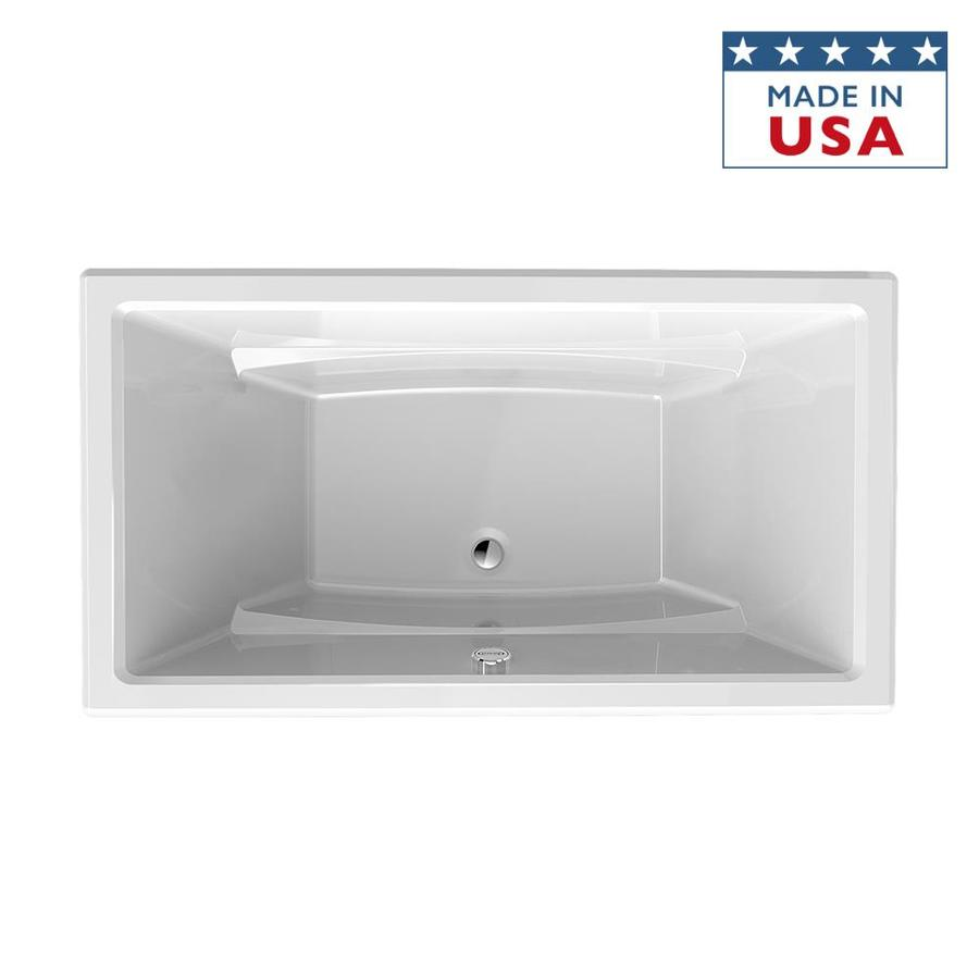 Shop Jacuzzi Primo White Acrylic Rectangular Drop In