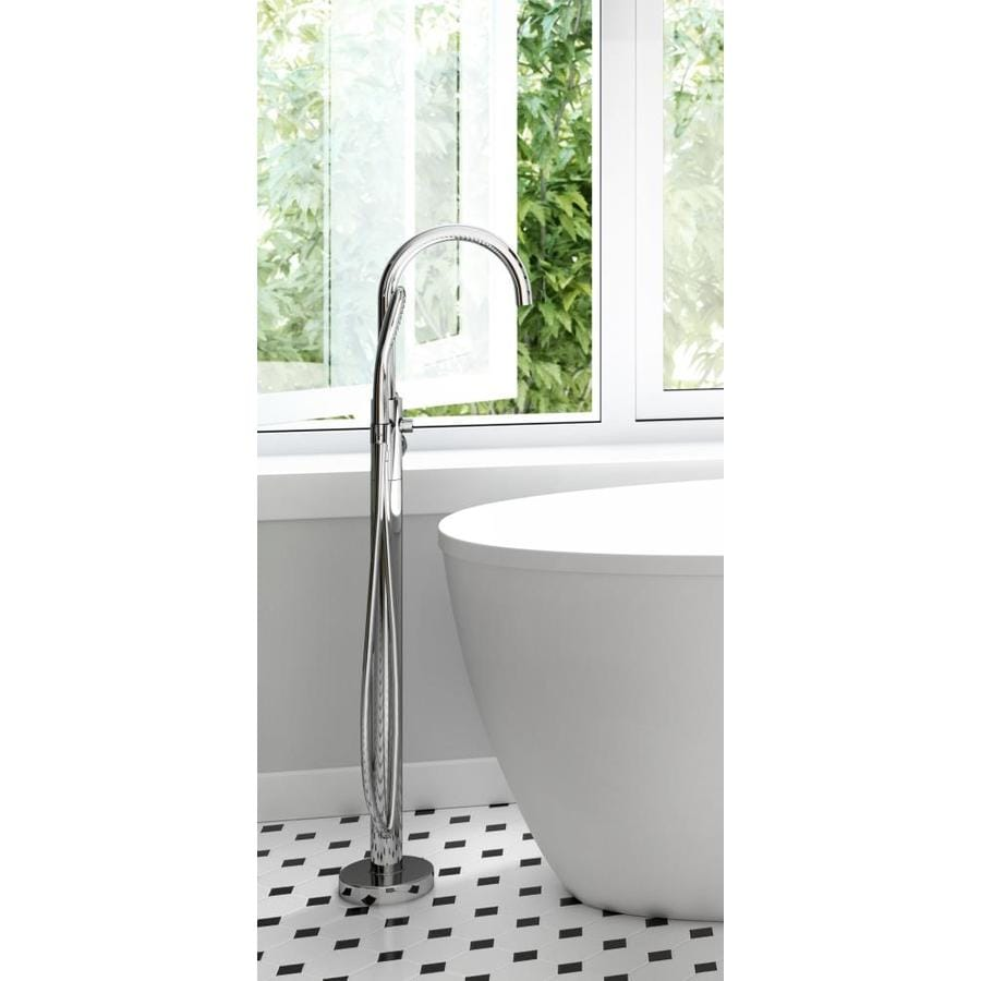 PRIMO Polished Chrome 1-Handle Fixed Freestanding Bathtub Faucet Product Photo