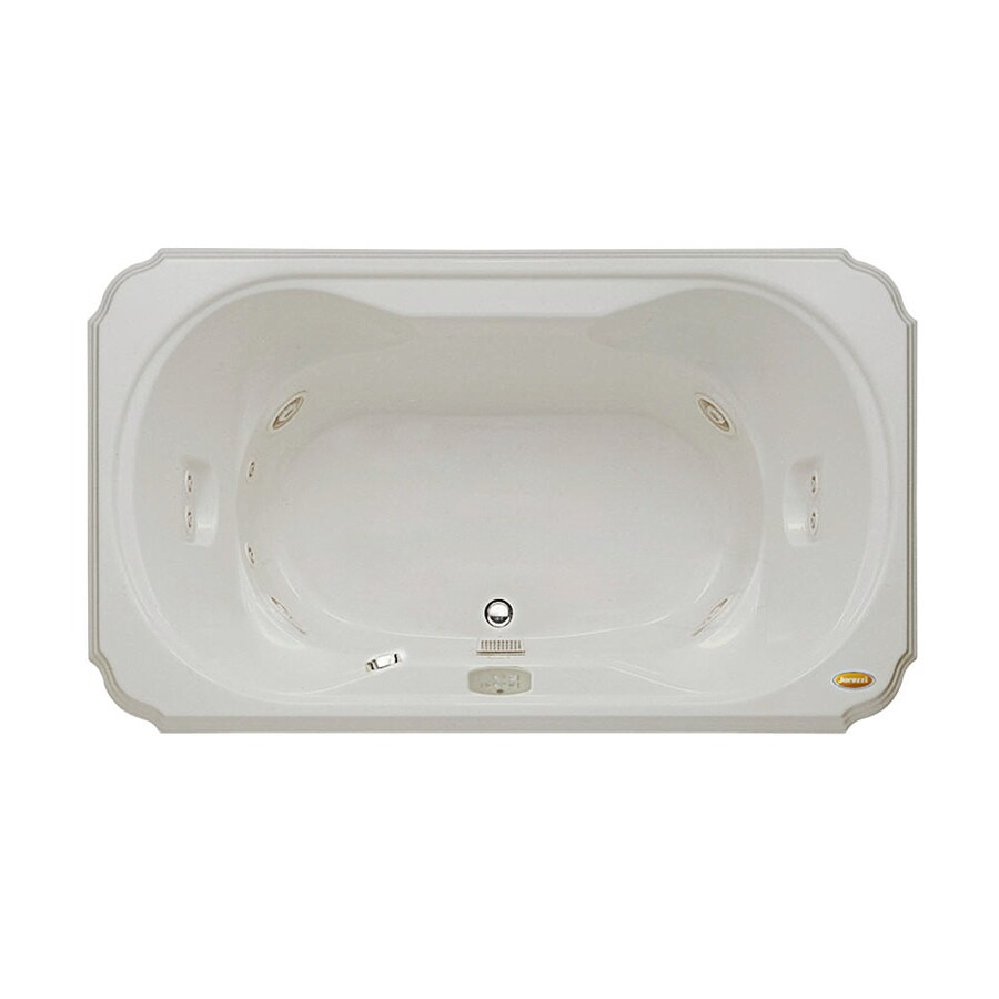Jacuzzi Marineo Oyster Acrylic Rectangular Drop-in Whirlpool Tub (Common: 42-in x 60-in; Actual: 26-in x 42-in)