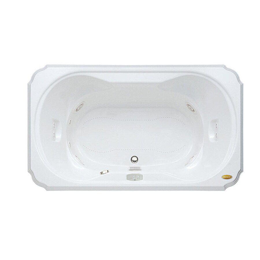 Jacuzzi Marineo 60-in L x 42-in W x 26-in H White Acrylic Rectangular Whirlpool Tub and Air Bath