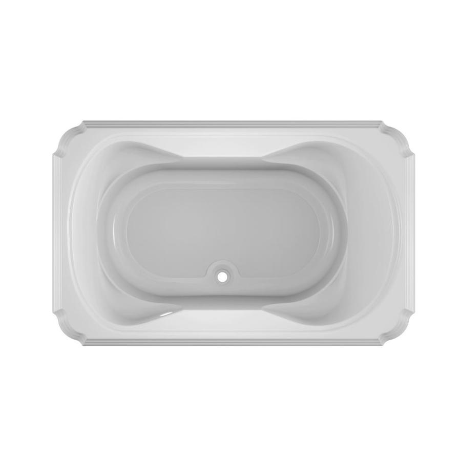 Jacuzzi Marineo White Acrylic Rectangular Drop-in Bathtub with Center Drain (Common: 42-in x 66-in; Actual: 26-in x 42-in x 66-in)
