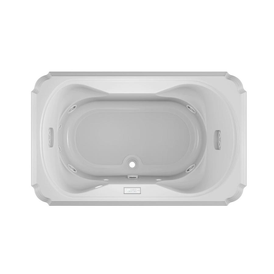 Jacuzzi Marineo 2-Person White Acrylic Rectangular Drop-in Whirlpool Tub (Common: 42-in x 66-in; Actual: 26-in x 42-in)