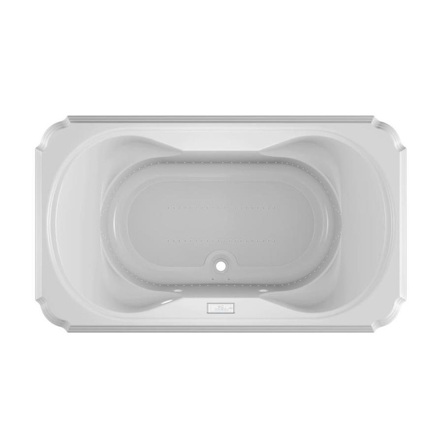 Jacuzzi Marineo 72-in L x 42-in W x 26-in H White Acrylic 2-Person Rectangular Drop-in Air Bath