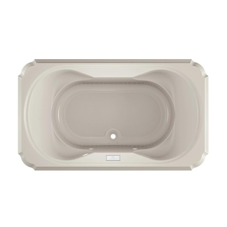Jacuzzi Marineo 72-in L x 42-in W x 26-in H Oyster Acrylic 2-Person Rectangular Drop-in Air Bath
