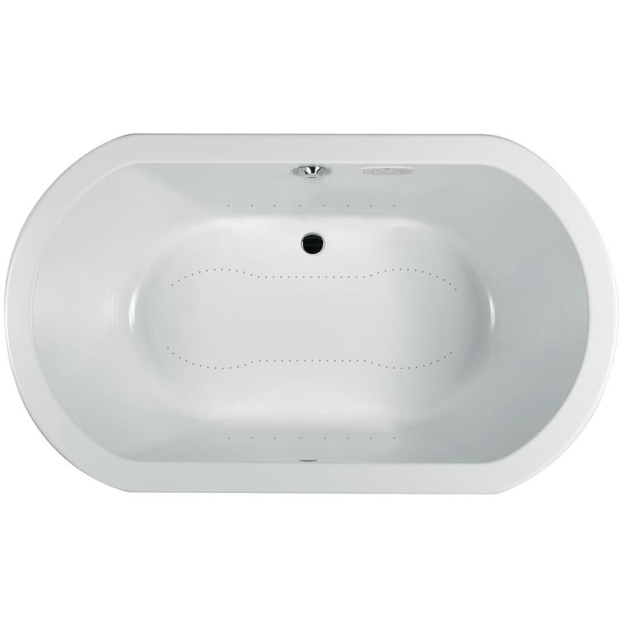Jacuzzi Anza 72-in L x 42-in W x 26-in H White Acrylic 2-Person Oval Drop-in Air Bath