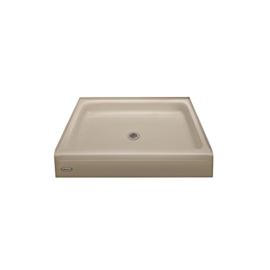 Jacuzzi Primo Almond Acrylic Shower Base (Common: 42-in W x 42-in L; Actual: 42-in W x 42-in L)