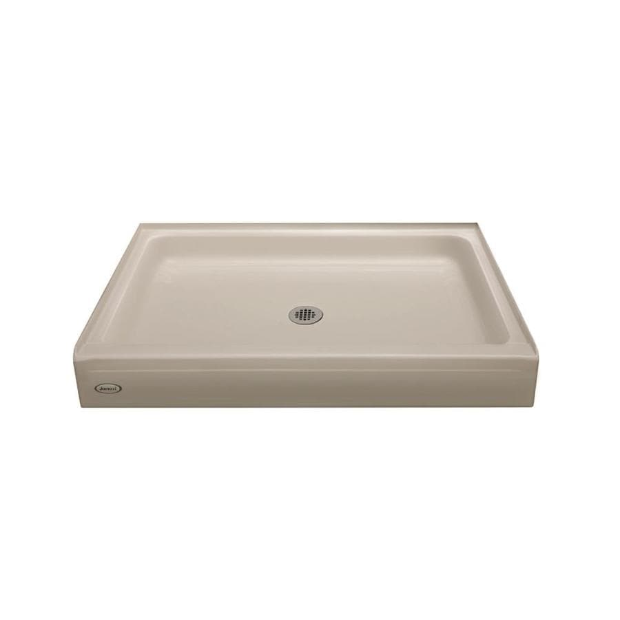 Jacuzzi Primo Oyster Acrylic Shower Base (Common: 32-in W x 48-in L; Actual: 32-in W x 48-in L)