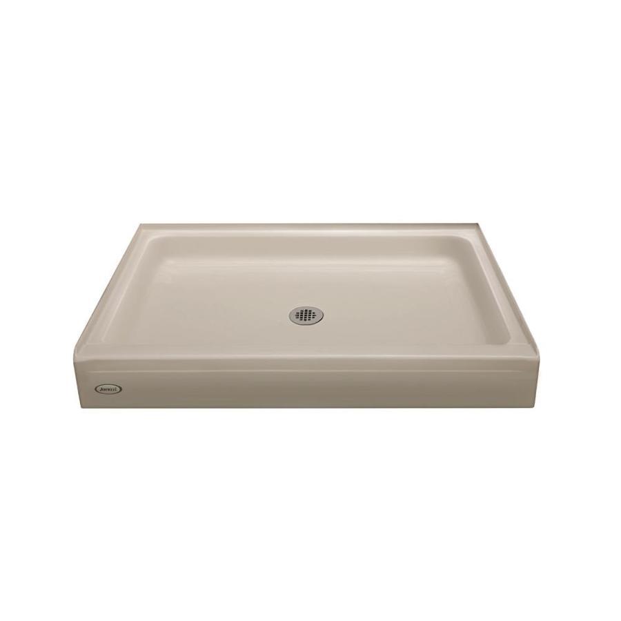 Jacuzzi Primo Oyster Acrylic Shower Base (Common: 34-in W x 48-in L; Actual: 34-in W x 48-in L)