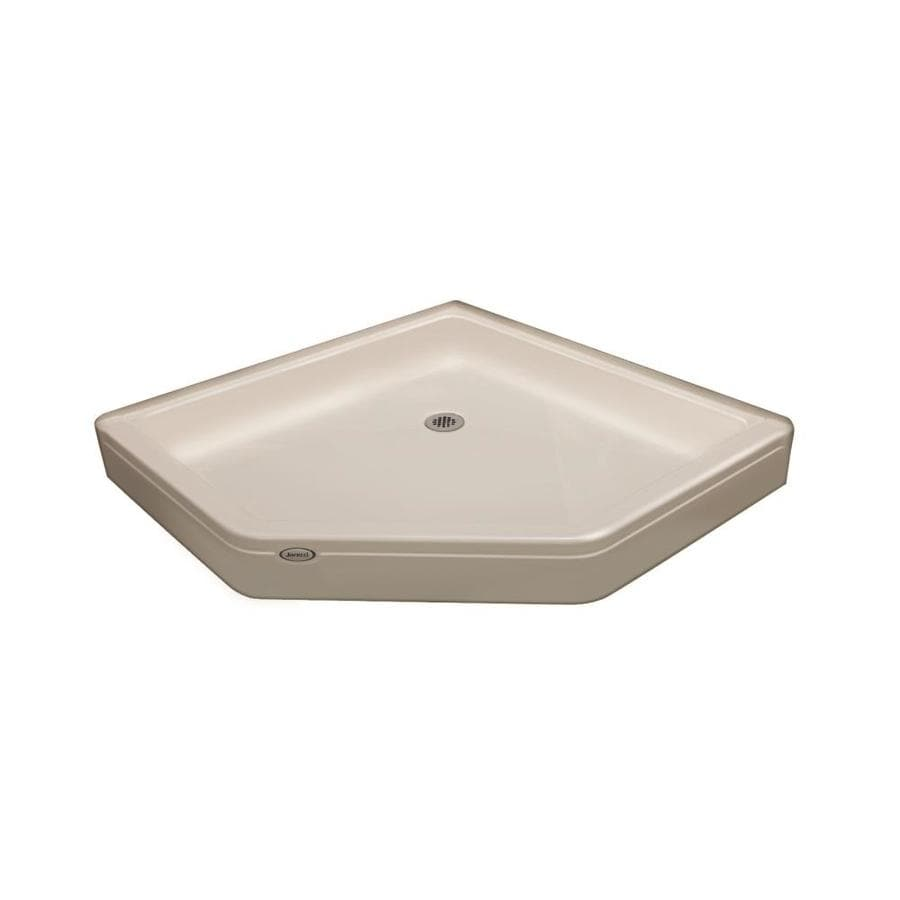 Jacuzzi Primo Oyster Acrylic Shower Base (Common: 38-in W x 38-in L; Actual: 38-in W x 38-in L)