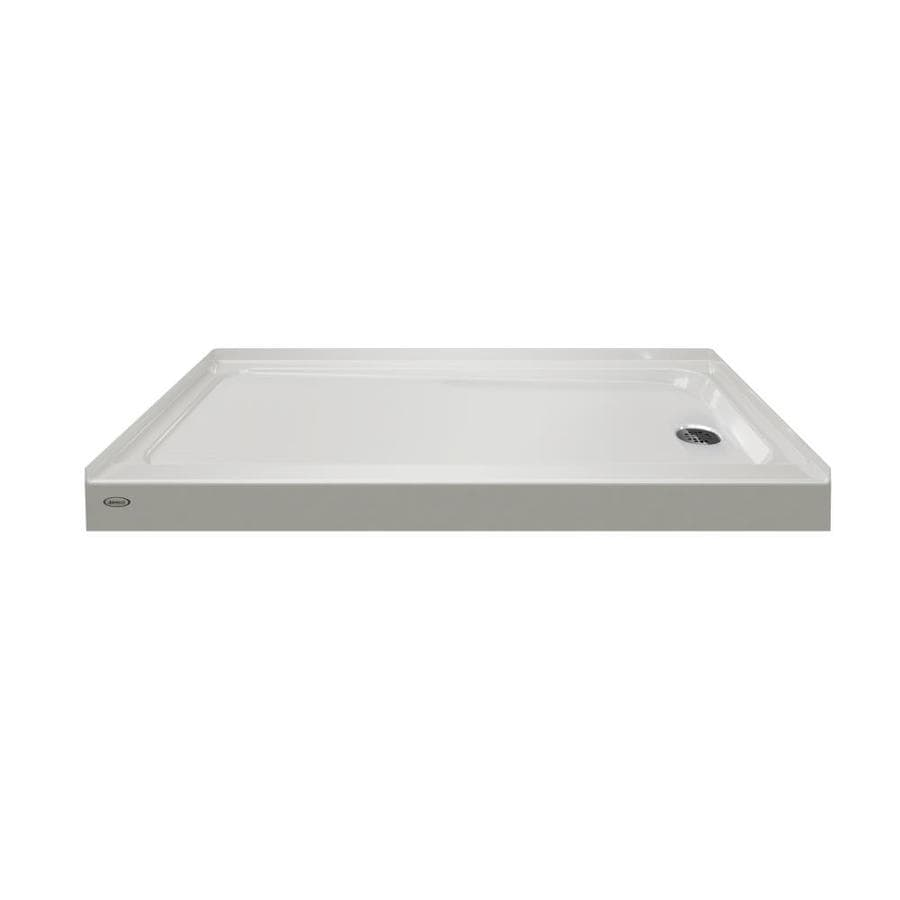 Jacuzzi Primo Oyster Acrylic Shower Base (Common: 30-in W x 60-in L; Actual: 30-in W x 60-in L)