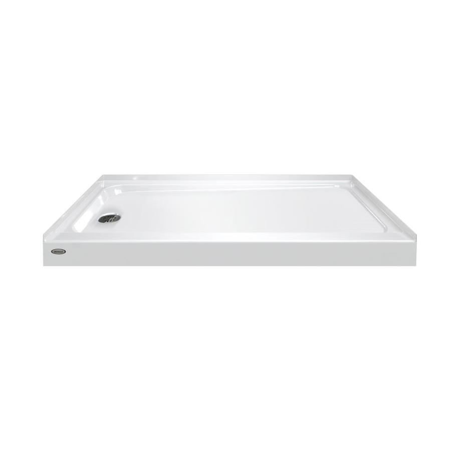 Jacuzzi Primo White Acrylic Shower Base (Common: 30-in W x 60-in L; Actual: 30-in W x 60-in L)