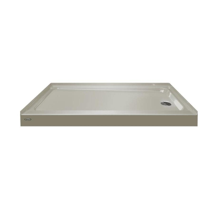 Jacuzzi Primo Almond Acrylic Shower Base (Common: 32-in W x 60-in L; Actual: 32-in W x 60-in L)