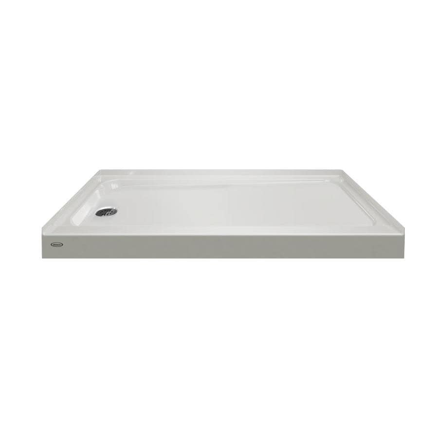 Jacuzzi Primo Oyster Acrylic Shower Base (Common: 32-in W x 60-in L; Actual: 32-in W x 60-in L)