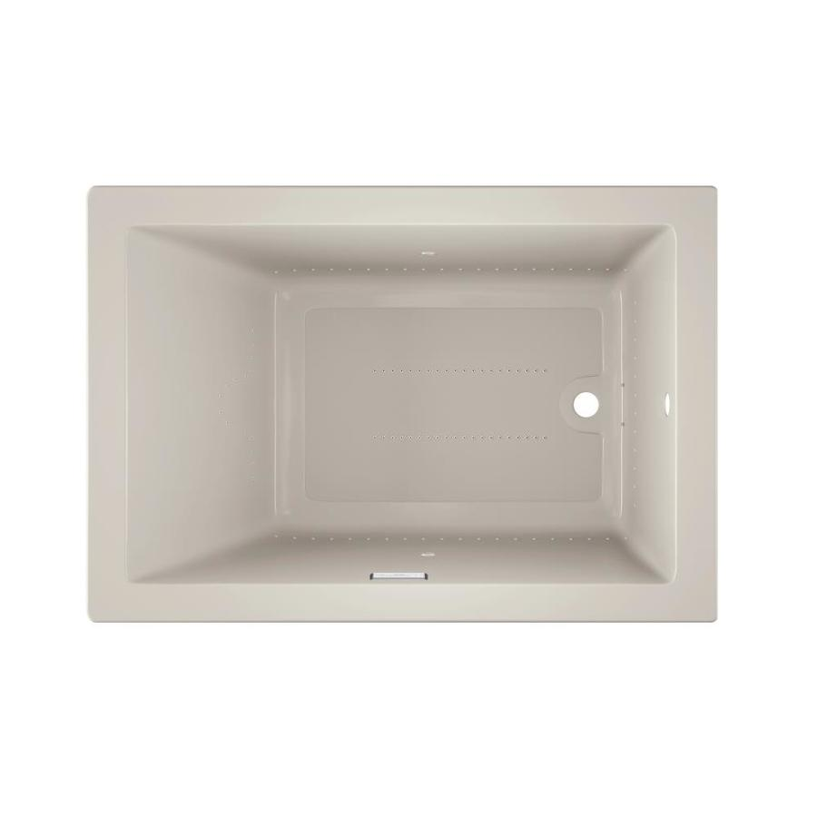 Jacuzzi Solna 60-in L x 42-in W x 26-in H Oyster Acrylic Rectangular Drop-in Air Bath