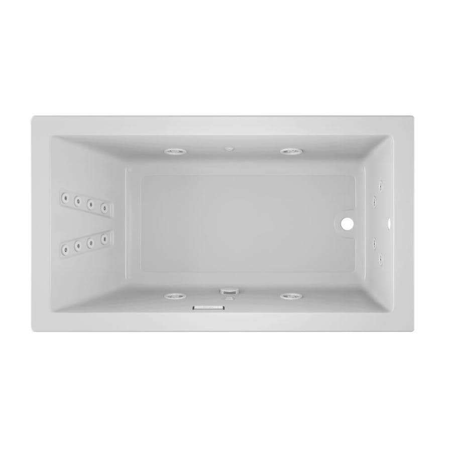 Jacuzzi Solna White Acrylic Rectangular Whirlpool Tub (Common: 36-in x 66-in; Actual: 26-in x 36-in x 66-in)