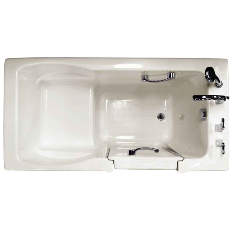 Shop Ristorre Oyster Acrylic Rectangular Walk In Bathtub With Front Center Dr