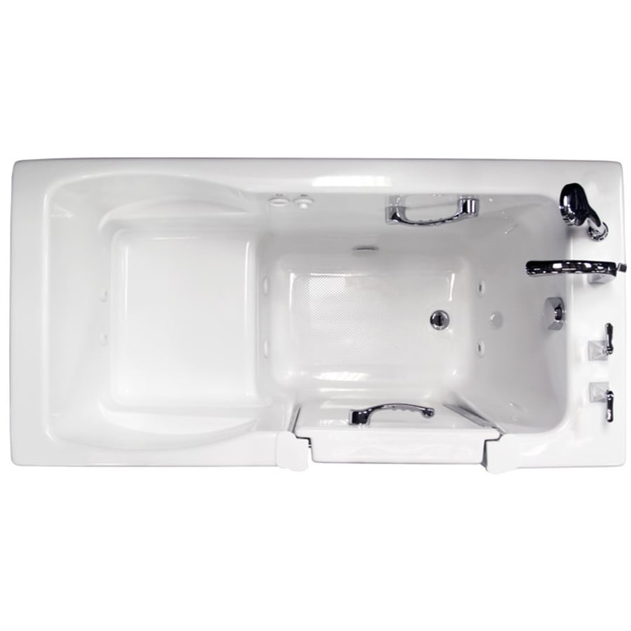 Ristorre White Acrylic Rectangular Walk-in Whirlpool Tub (Common: 30-in x 60-in; Actual: 38.5-in x 30-in x 60-in)