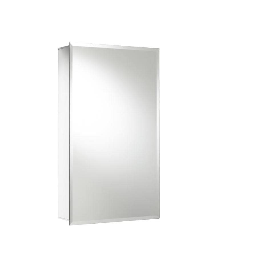Jacuzzi 15-in x 26-in Rectangle Surface/Recessed Mirrored Aluminum Medicine Cabinet