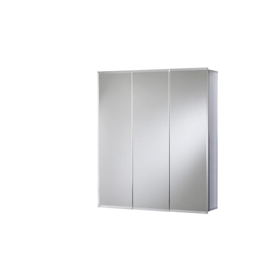 Jacuzzi 24-in x 26-in Rectangle Surface/Recessed Mirrored Aluminum Medicine Cabinet