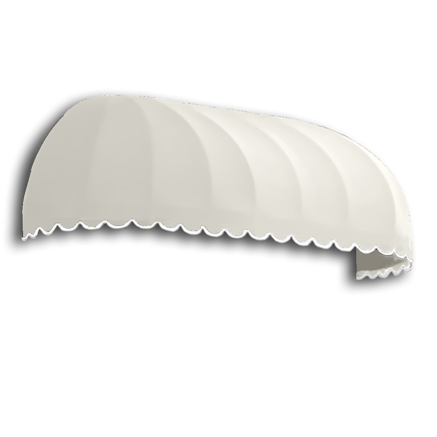 Awntech 220.5-in Wide x 36-in Projection White Solid Elongated Dome Window/Door Awning