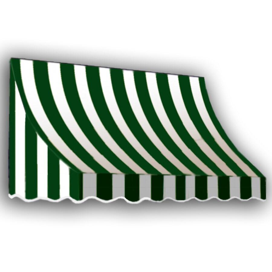 "Awntech 5' Beauty-Mark® Nantucket® (31""H X 24""D) Window/Entry Awning / Forest/White Stripe"