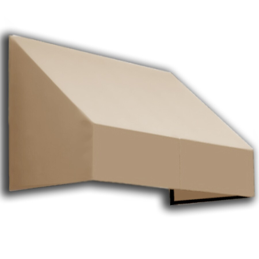 Awntech 124.5-in Wide x 36-in Projection Tan Solid Slope Window/Door Awning