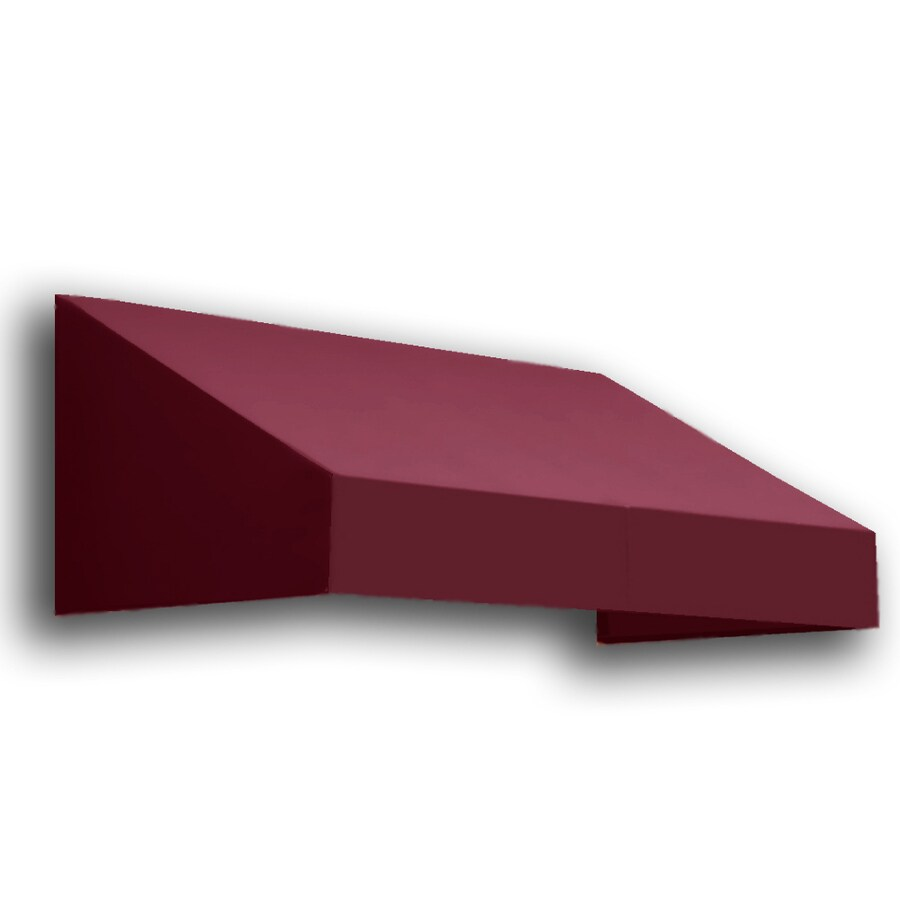 Awntech 604.5-in Wide x 36-in Projection Burgundy Solid Slope Window/Door Awning