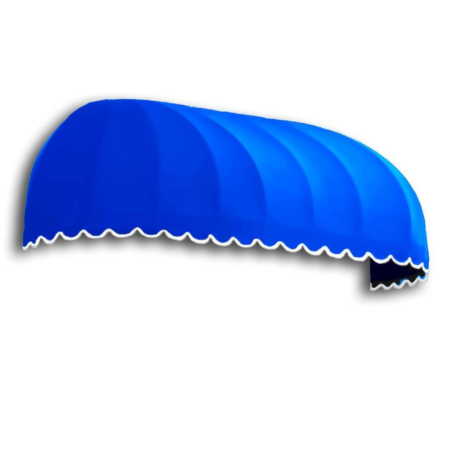 Awntech 52.5-in Wide x 24-in Projection Bright Blue Solid Elongated Dome Window/Door Awning