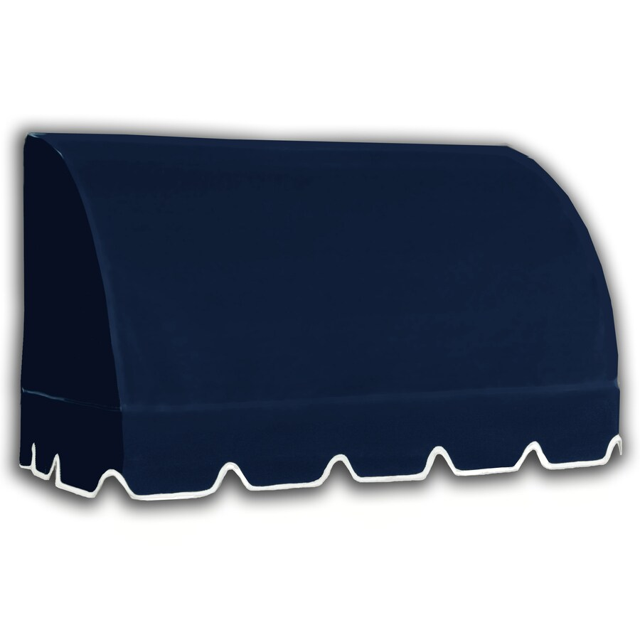 Awntech 100.5-in Wide x 36-in Projection Navy Solid Waterfall Window/Door Awning