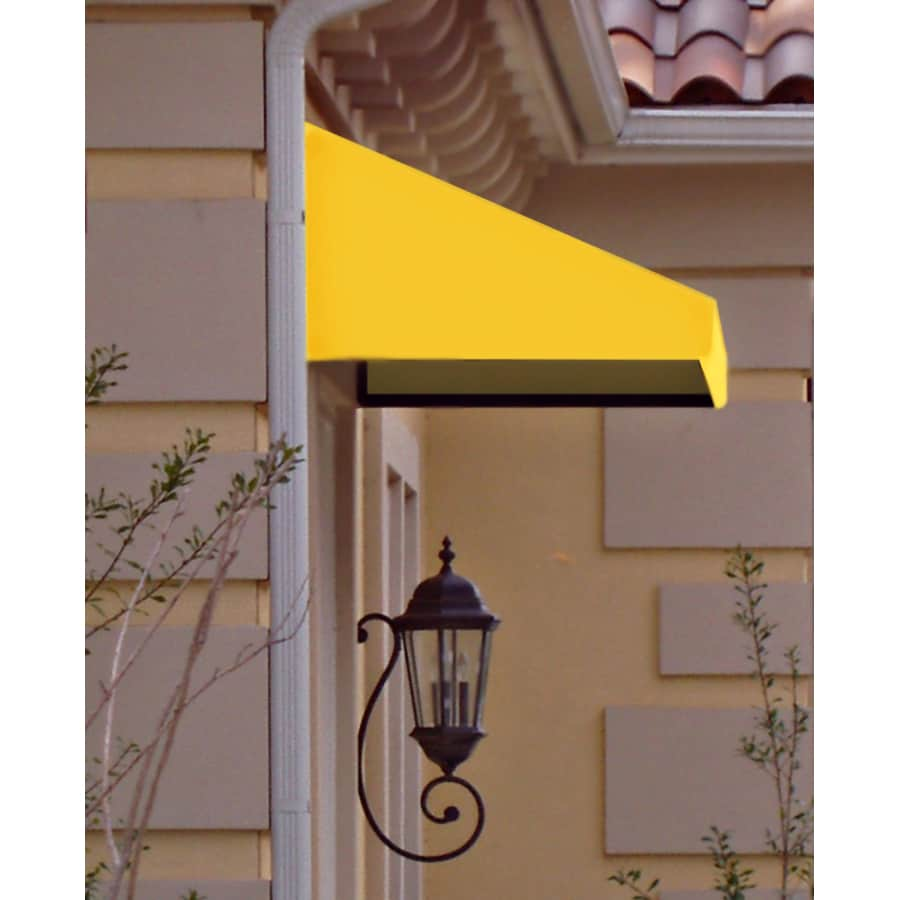 Awntech 64.5-in Wide x 36-in Projection Yellow Solid Slope Window/Door Awning