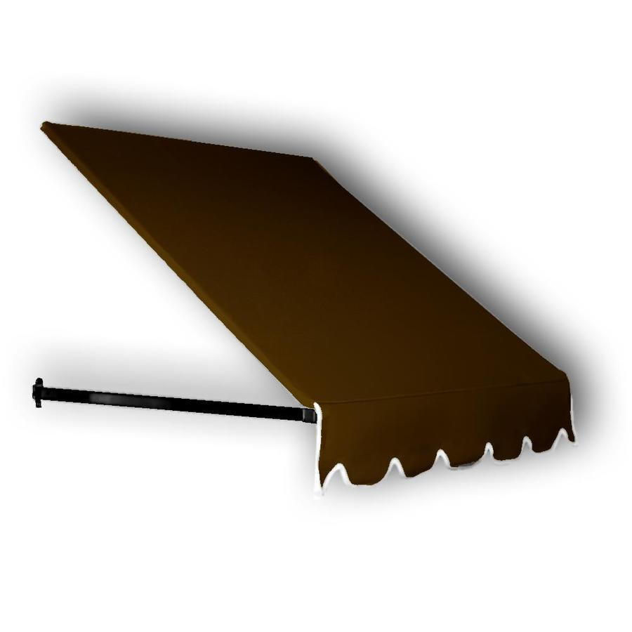 Awntech 40.5-in Wide x 30-in Projection Brown Solid Open Slope Low Eave Window/Door Awning