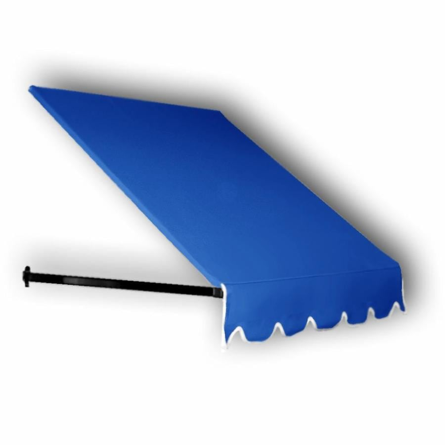 Awntech 40.5-in Wide x 30-in Projection Bright Blue Solid Open Slope Low Eave Window/Door Awning