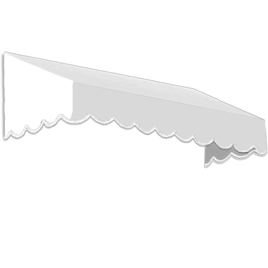 Awntech 424.5-in Wide x 48-in Projection White Solid Slope Window/Door Awning