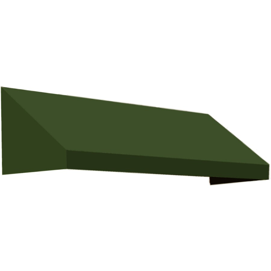 Awntech 100.5-in Wide x 24-in Projection Olive Solid Slope Window/Door Awning