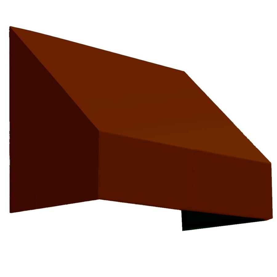Awntech 100.5-in Wide x 24-in Projection Terra Cotta Solid Slope Window/Door Awning