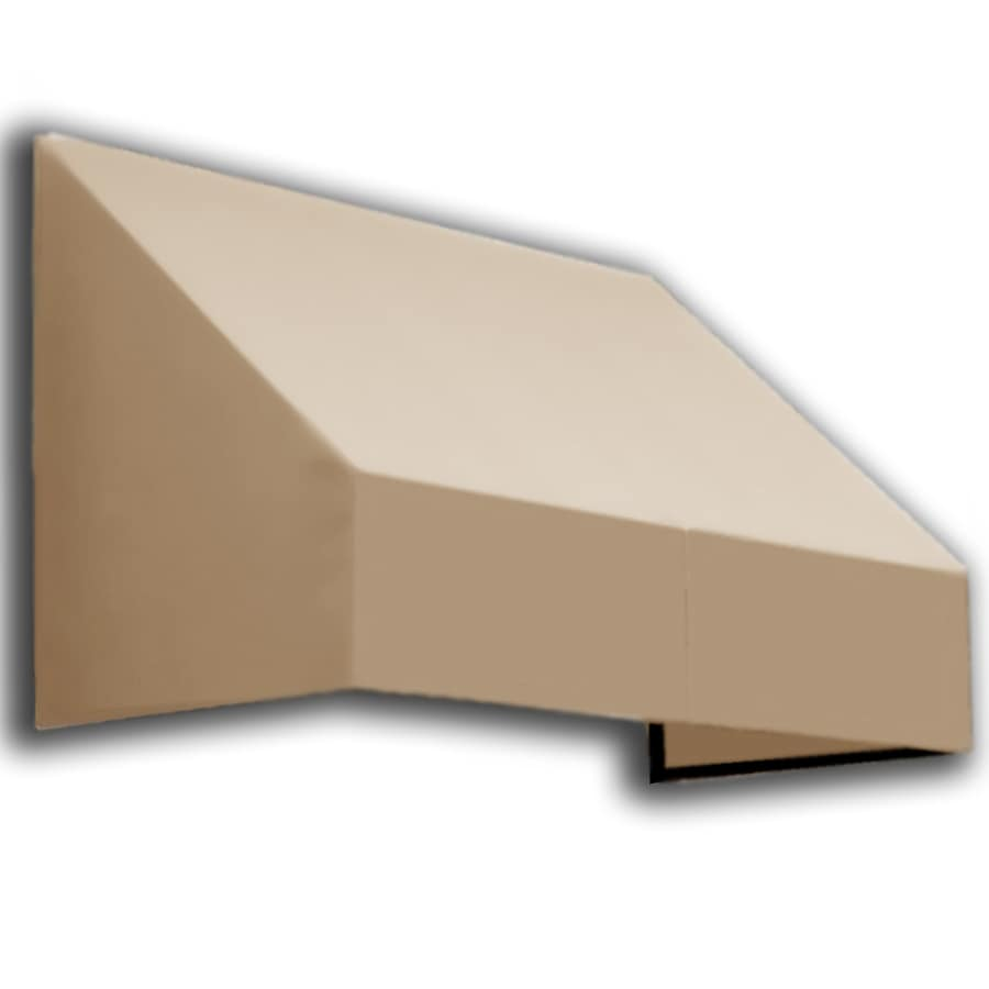 Awntech 148.5-in Wide x 48-in Projection Tan Solid Slope Window/Door Awning