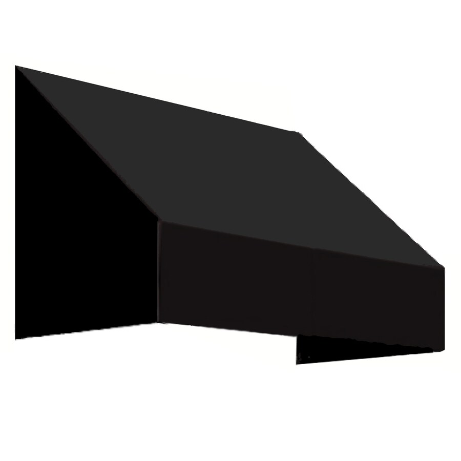 Awntech 604.5-in Wide x 48-in Projection Black Solid Slope Window/Door Awning