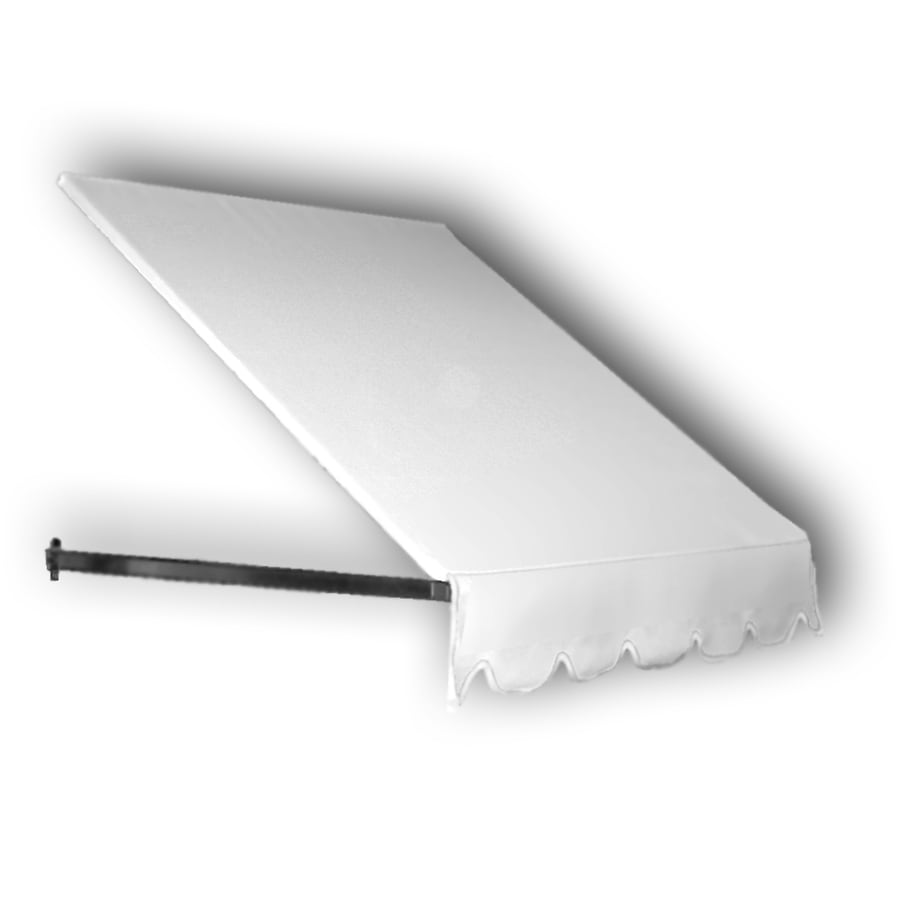 Awntech 364.5-in Wide x 48-in Projection White Solid Open Slope Window/Door Awning