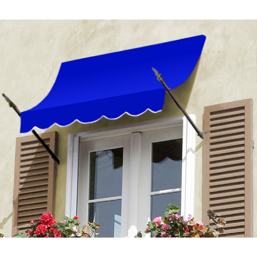 """Awntech 4' Beauty-Mark� New Orleans� (31""""H X 16""""D) Window/Entry Awning / Bright Blue"""