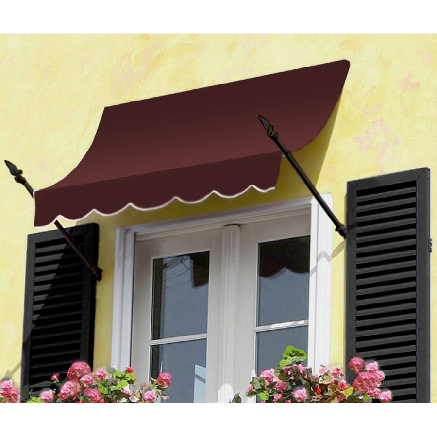"Awntech 5' Beauty-Mark� New Orleans� (31""H X 16""D) Window/Entry Awning / Burgundy"