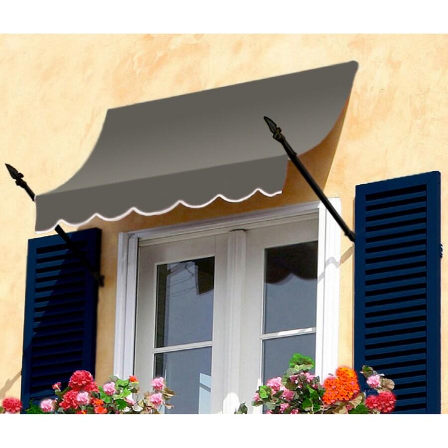 "Awntech 6' Beauty-Mark� New Orleans� (31""H X 16""D) Window/Entry Awning / Gray"