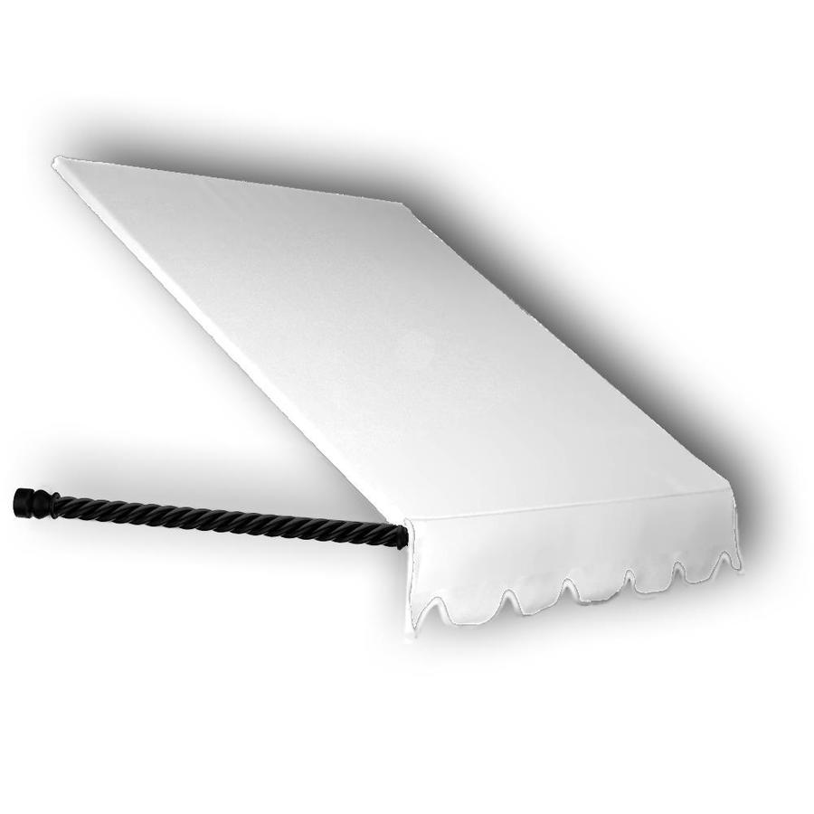 Awntech 64.5-in Wide x 36-in Projection White Solid Open Slope Window/Door Awning
