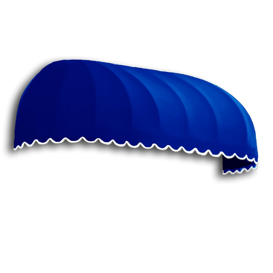 Awntech 172.5-in Wide x 48-in Projection Bright Blue Solid Elongated Dome Window/Door Awning