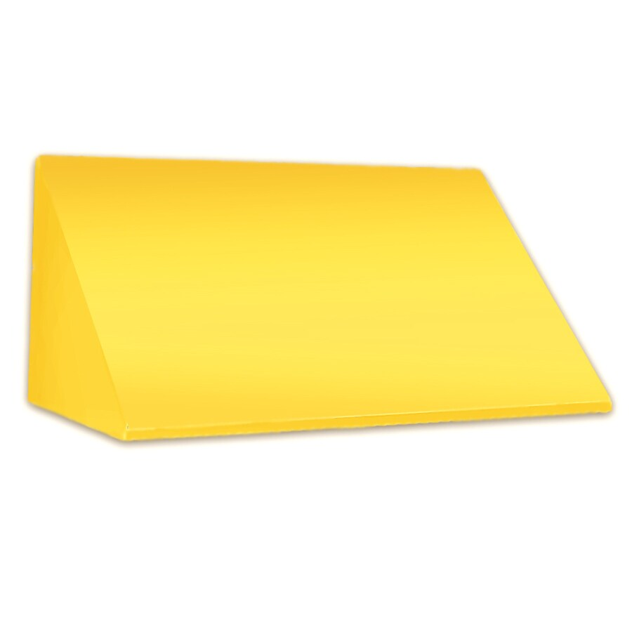 Awntech 148.5-in Wide x 24-in Projection Yellow Solid Slope Window/Door Awning