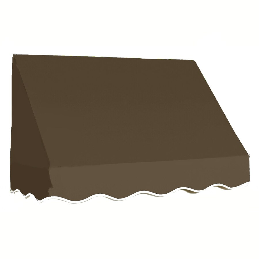 Awntech 364.5-in Wide x 36-in Projection Brown Solid Slope Window/Door Awning