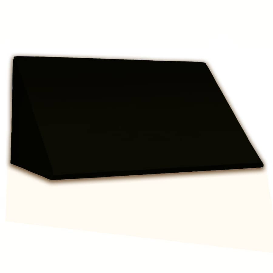 Awntech 544.5-in Wide x 48-in Projection Black Solid Slope Window/Door Awning
