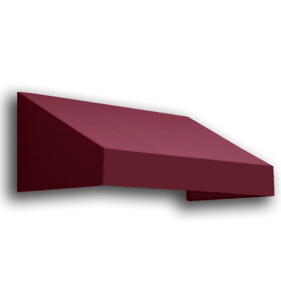Awntech 40.5-in Wide x 48-in Projection Burgundy Solid Slope Window/Door Awning