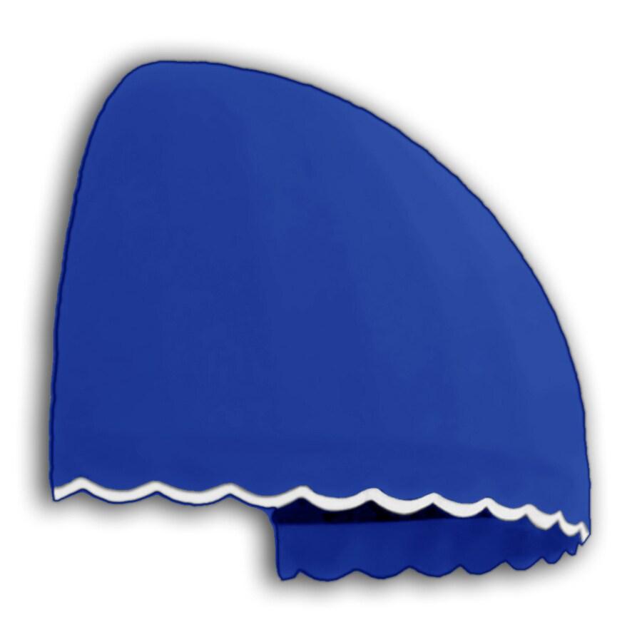 "Awntech� 4' Beauty-Mark� Bostonian (42""H x 35""D) Window / Entry Awning - Bright Blue"