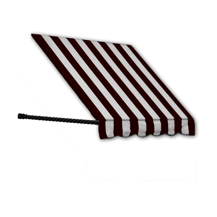 Awntech 100.5-in Wide x 24-in Projection Black/White Stripe Open Slope Window/Door Awning